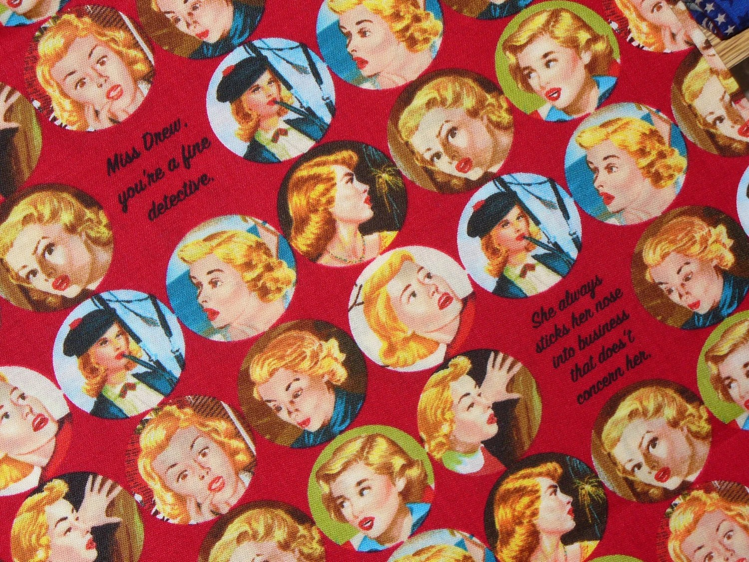 Nancy Drew Fabric By Trinketsintheattic On Etsy