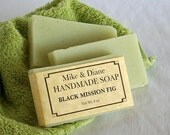 Black Mission Fig Fragrance, Olive Oil Soap, Shea Butter Soap, Pastel Green Soap, Handmade Soap, Cold Process Soap, FREE SHIPPING - MikeandDianeSoap