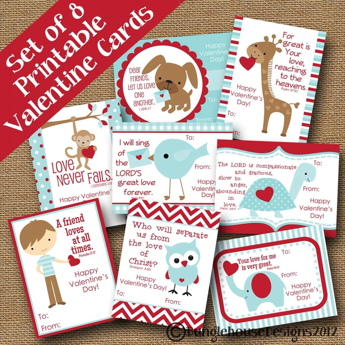 Kids Valentines Diy Printable Boys Classroom Valentines