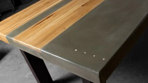 Concrete Wood Steel Dining Kitchen Table