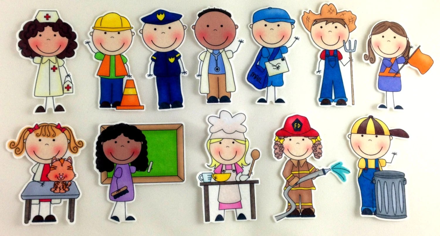Community Helpers Felt Board Set By Bymaree On Etsy