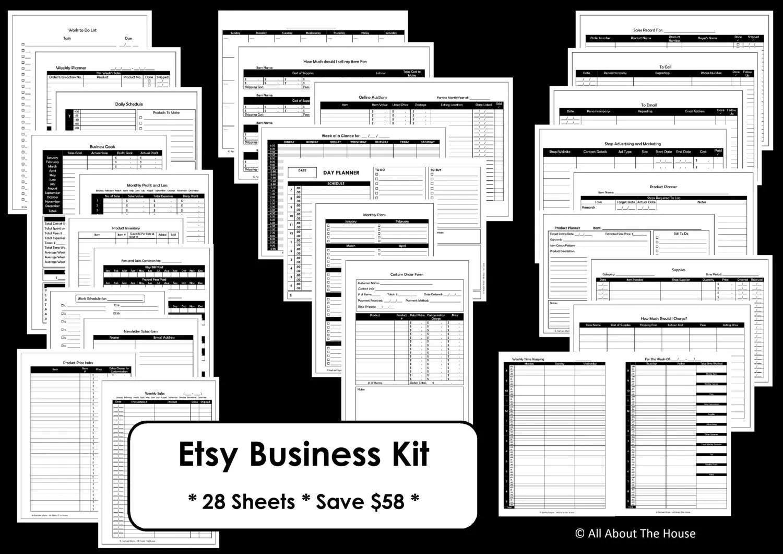 Etsy Business Planner Printables Work At Home Mom Online