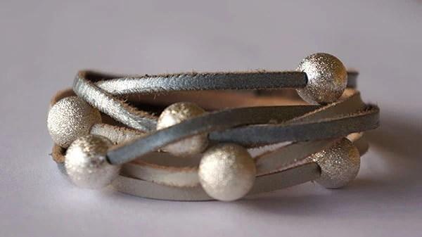 Leather Wrap Bracelet / Eco Friendly Leather - ItsJustNice