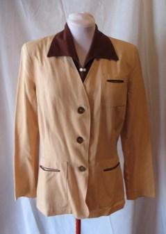 Vintage 1940s Ladies Two-Tone Jacket - M/L