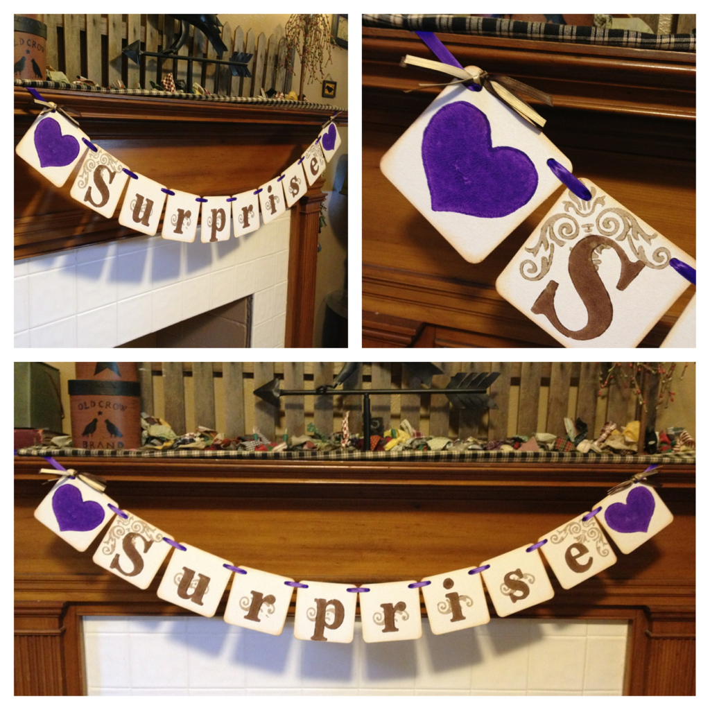 Surprise party banner! Birthday surprise party, 60th