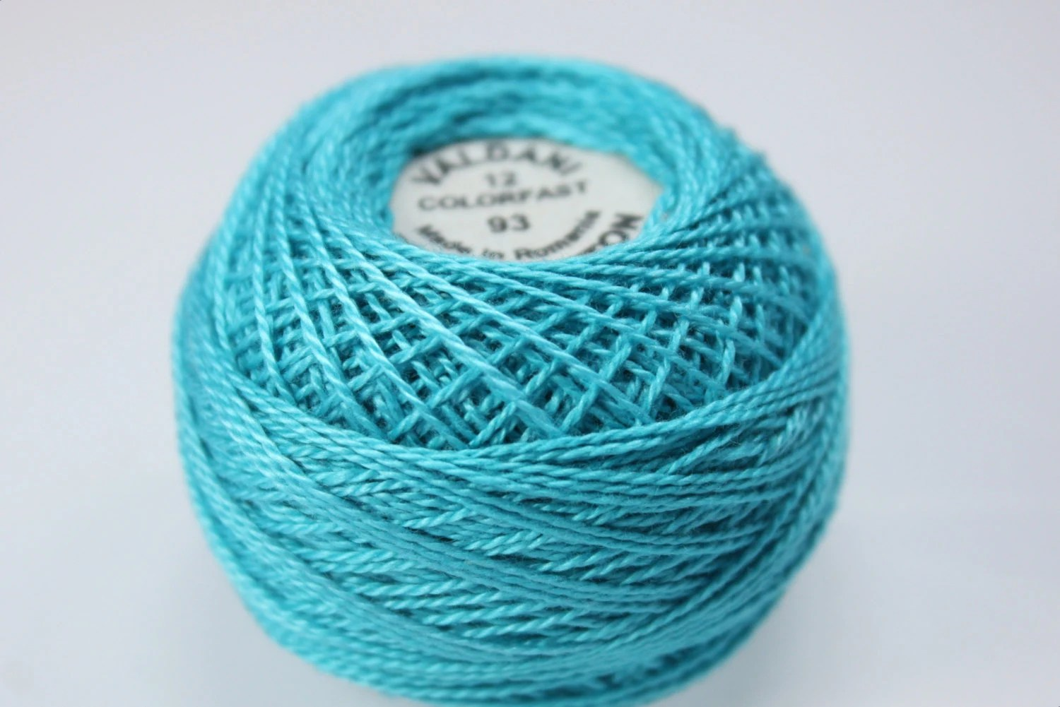 Valdani Pearl Cotton Bright Turquoise Medium - 93 - NualaCrochet