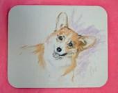 All Smiles Corgi Dog Art Mouse Pad by Cori Solomon - terikor