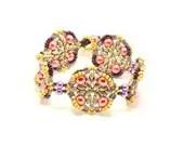 Beaded Bracelet Tutorial/Pattern Pearly - CrownofStones