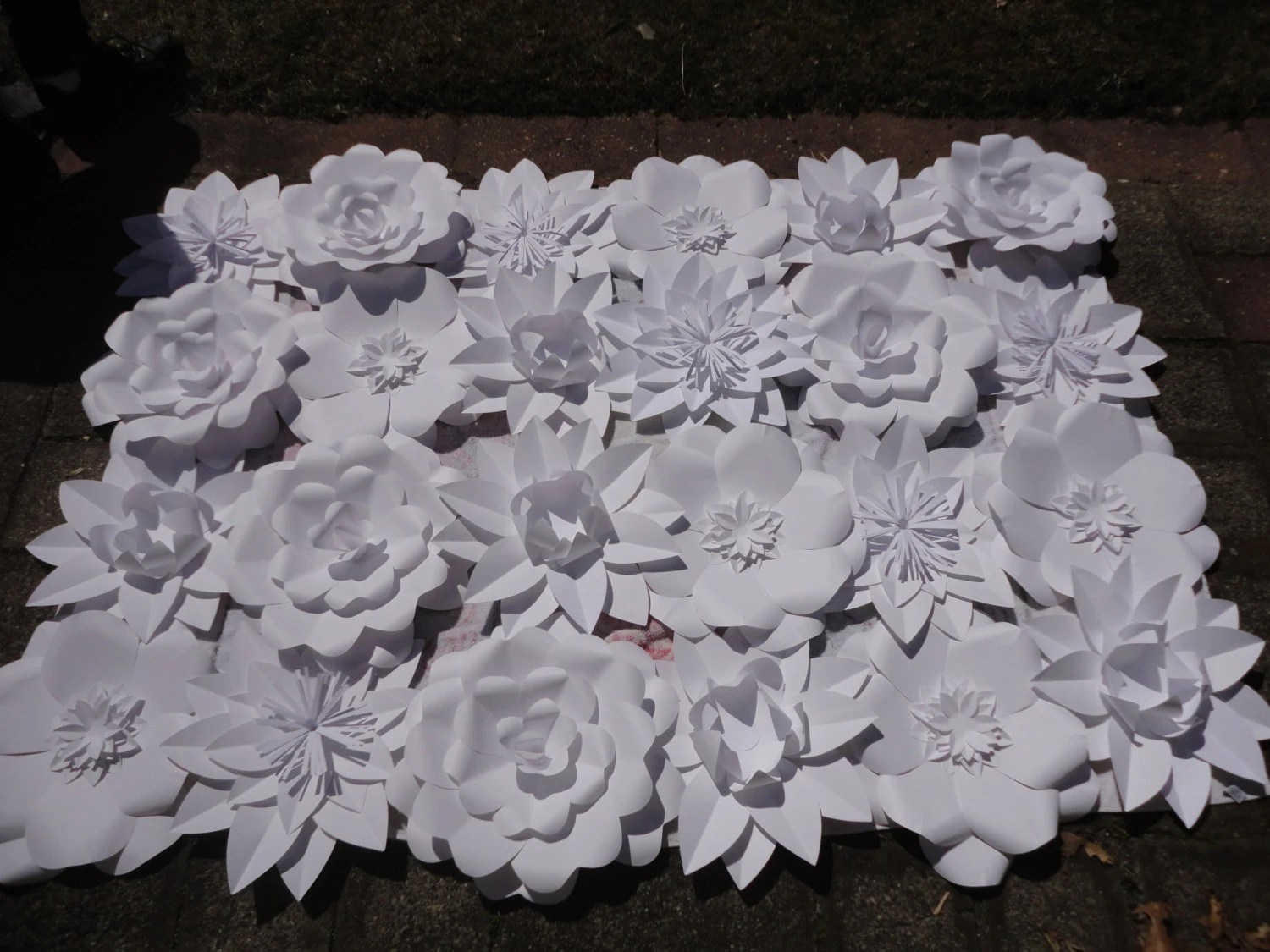 Items Similar To Extra Large Paper Flowers Wedding