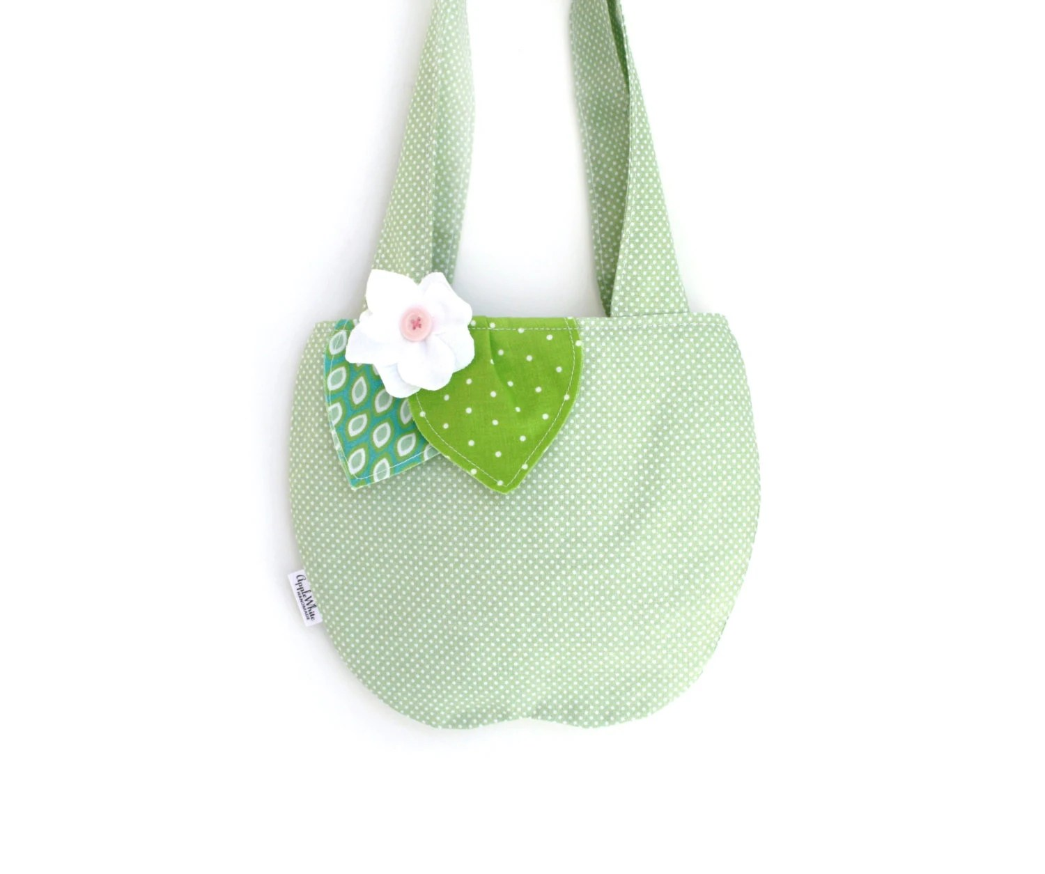 Green Apple Purse, Children, Girls Purses,  Kids, Accessories - AppleWhite