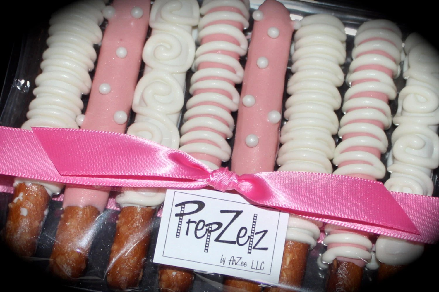 White Chocolate Covered Pretzel Rods - 8 pack of medium rods