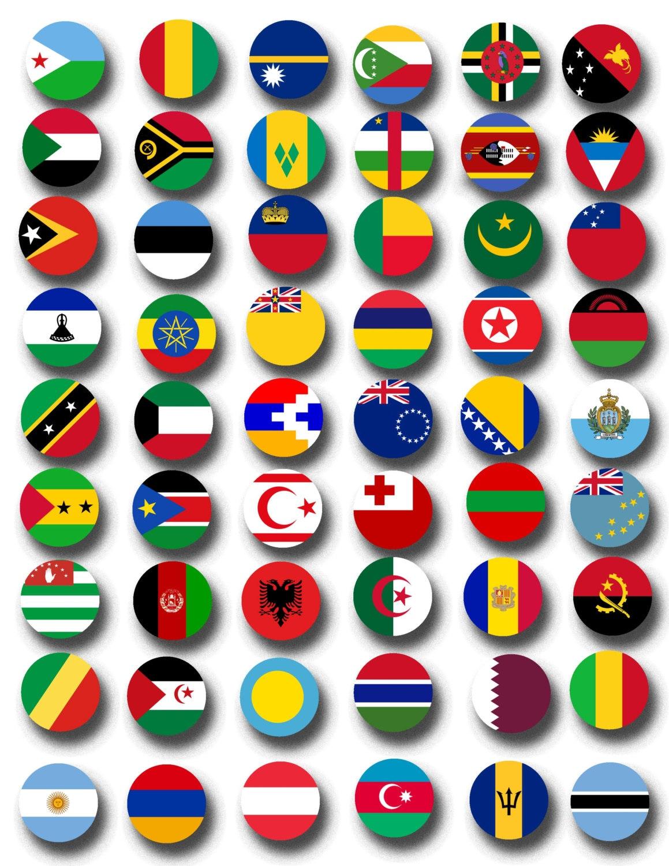 World Flags Printable Collage Sheets 203 Countries Printable