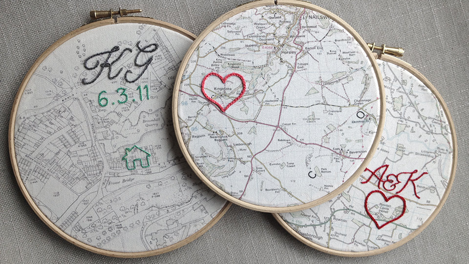 Cotton Wedding Anniversary Gift: Made-to-order Embroidered
