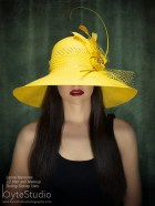 Kentucky Derby Hat Haute Couture Hat Yellow Sun Hat Kentucky Derby Hat