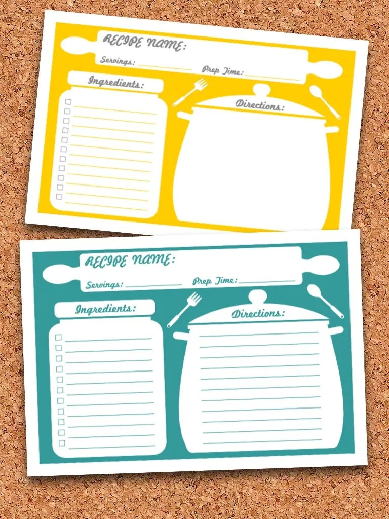 binder size recipe template for a half sized binder. images about ...