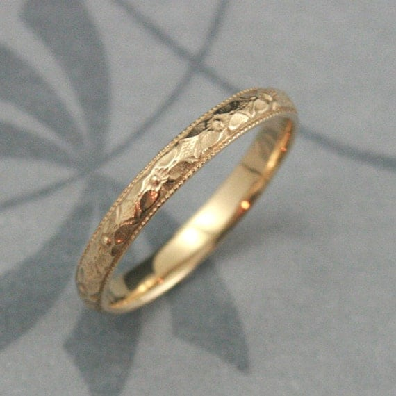 Orange Blossom Ring14K Gold Renaissance BandWomens