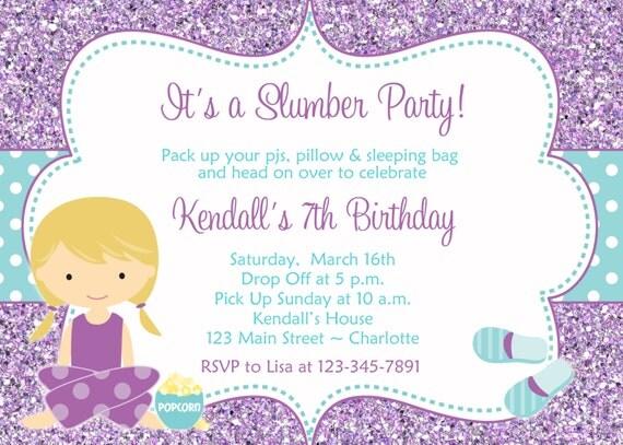 invitation d anniversaire en anglais