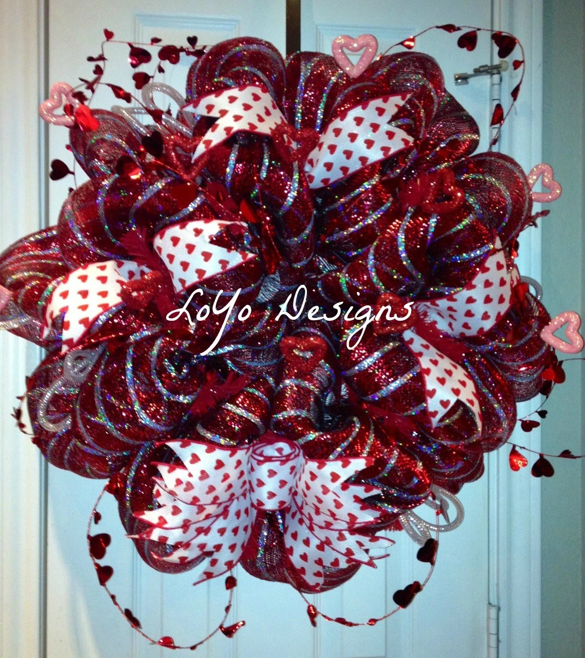 Items Similar To MADE TO ORDER Deco Mesh Valentine