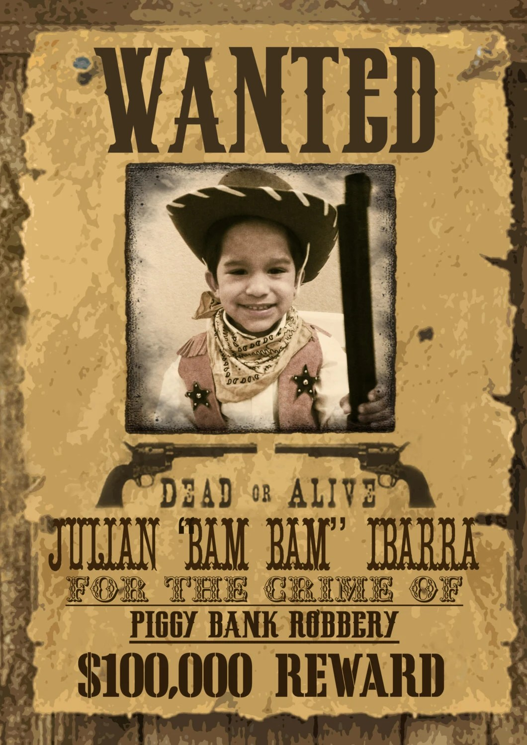 Wild West Wanted Poster Printable