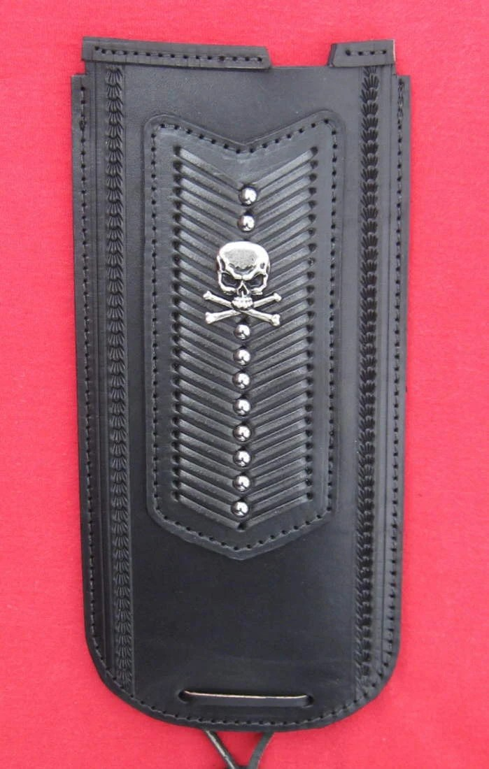 Leather Tank Panel For Harley Softail 84 99 Skull Laced