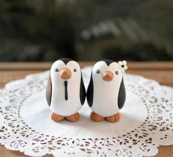 Penguin Wedding Cake Topper Small