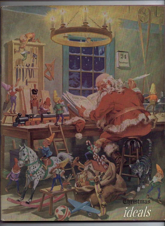 Vintage 1945 Christmas Ideals Magazine Scrapbooking Supplies