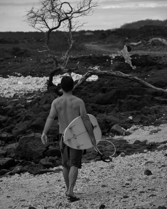 the mystical path black and white surfing photo