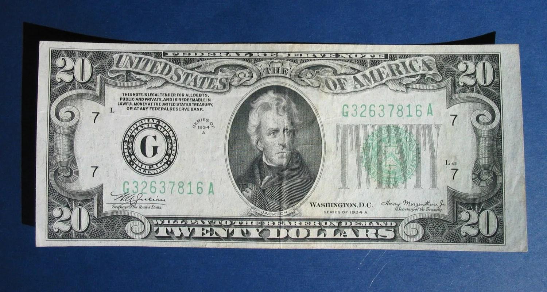 Items Similar To A U S 20 Dollar Bill Federal