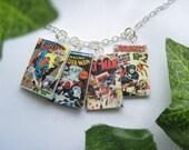 Miniature Comic Book Necklace