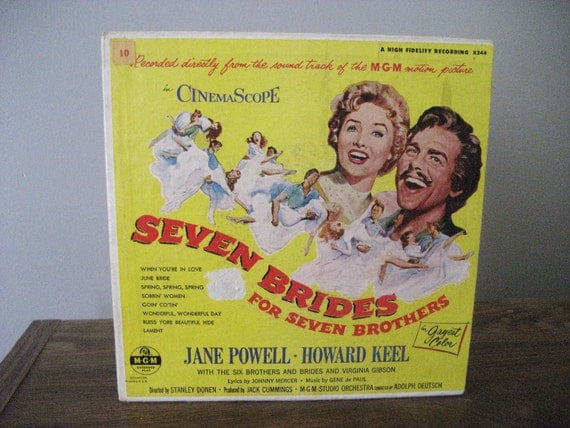 Vintage Seven Brides for Seven Brothers 45 Records - 2 Discs 1954