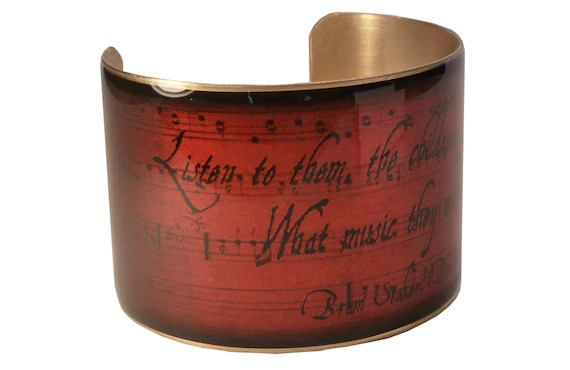 Dracula by Bram Stoker Quote Bracelet, Vampire Jewelry