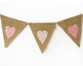 RESERVED for Nicole - Burlap bunting - SeaBreezeStore