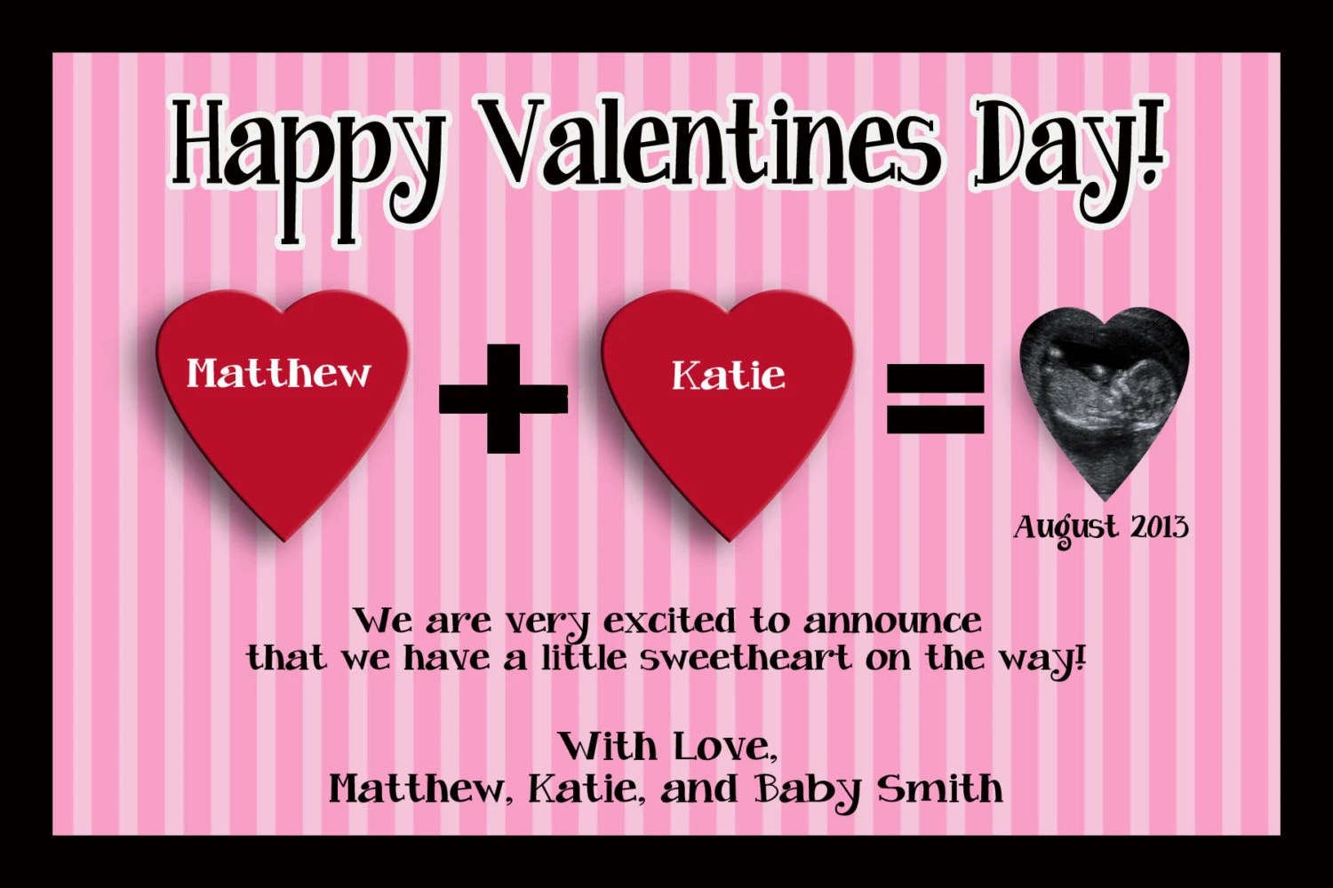 Items Similar To Valentines Day Pregnancy Announcement