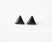 FREE WORLDWIDE SHIPPING - Geometric Triangle Black Stud Earrings - smafactory