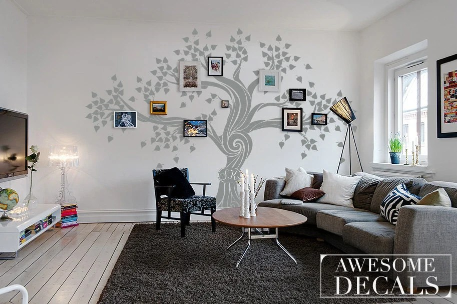 Family Tree Wall Decal Tree Wall Decal Custom Wall Art