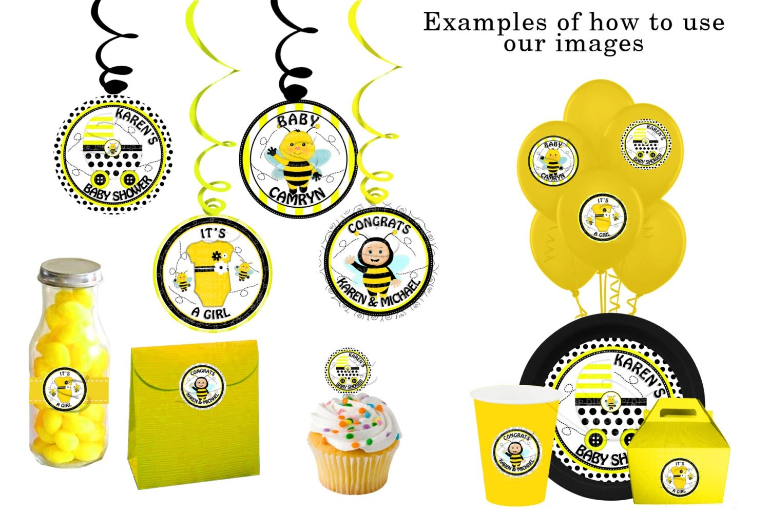 Bumble Bee Baby Shower Bee Birthday Signs By Yellowfieldsdesigns