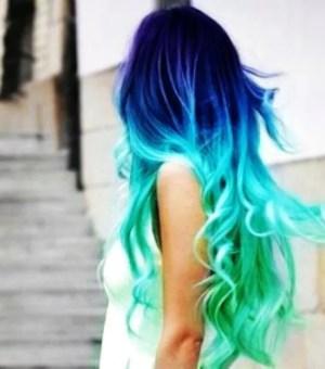 aqua blue mermaid hair chalk salon grade big sticks high