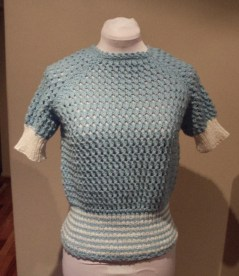 Vintage 1970s does 40s Style Knitted Top