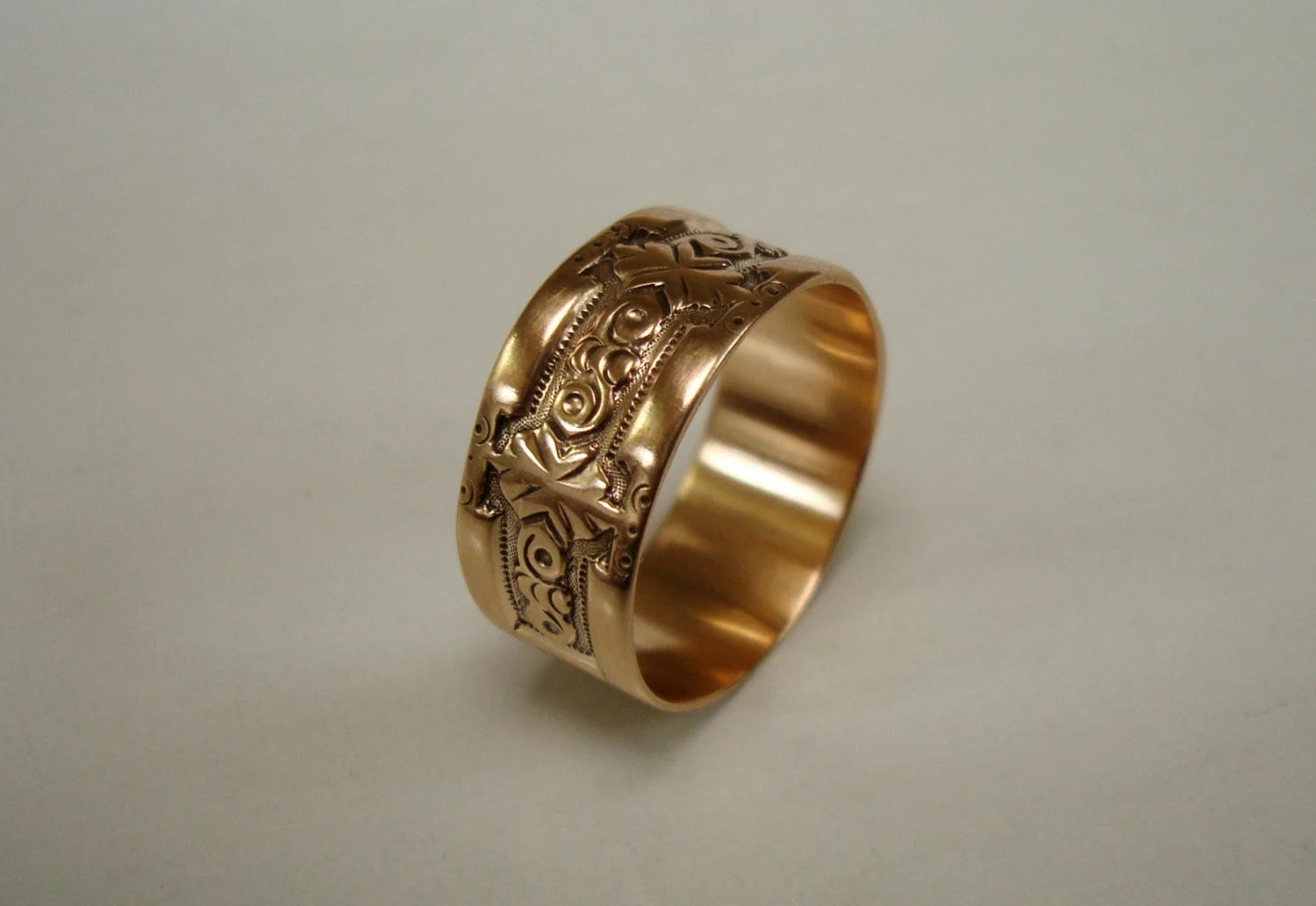 RESERVED Antique Gold Ring Victorian Cigar Band Wedding