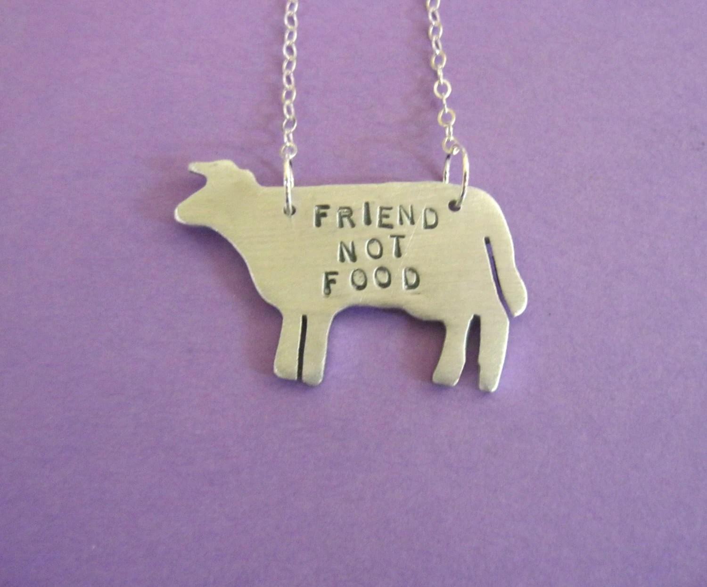 Freund nicht essen Kuh Eco freundliche Halskette