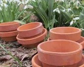 Miniature terracotta flowerpots for your Gardening or Craft projects / Lot of 20 small Vintage1960 - Poemstones