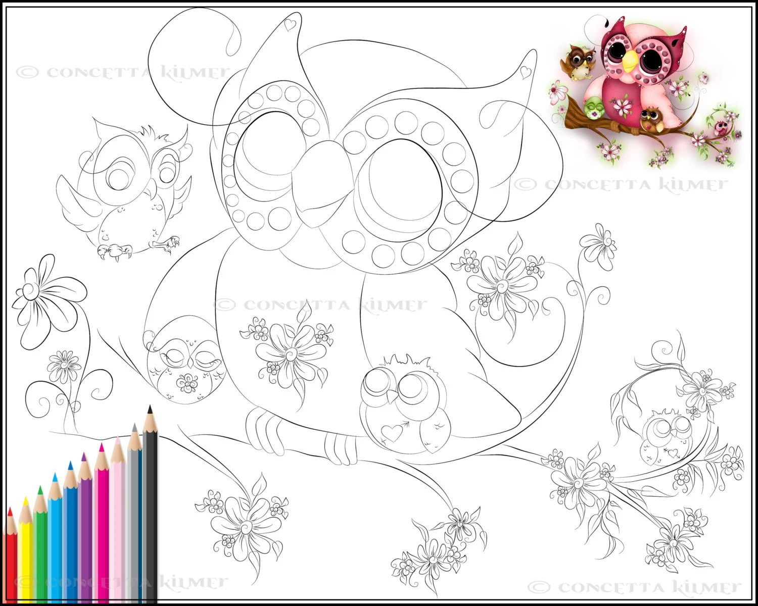 go back gt gallery for gt girly owl coloring pages
