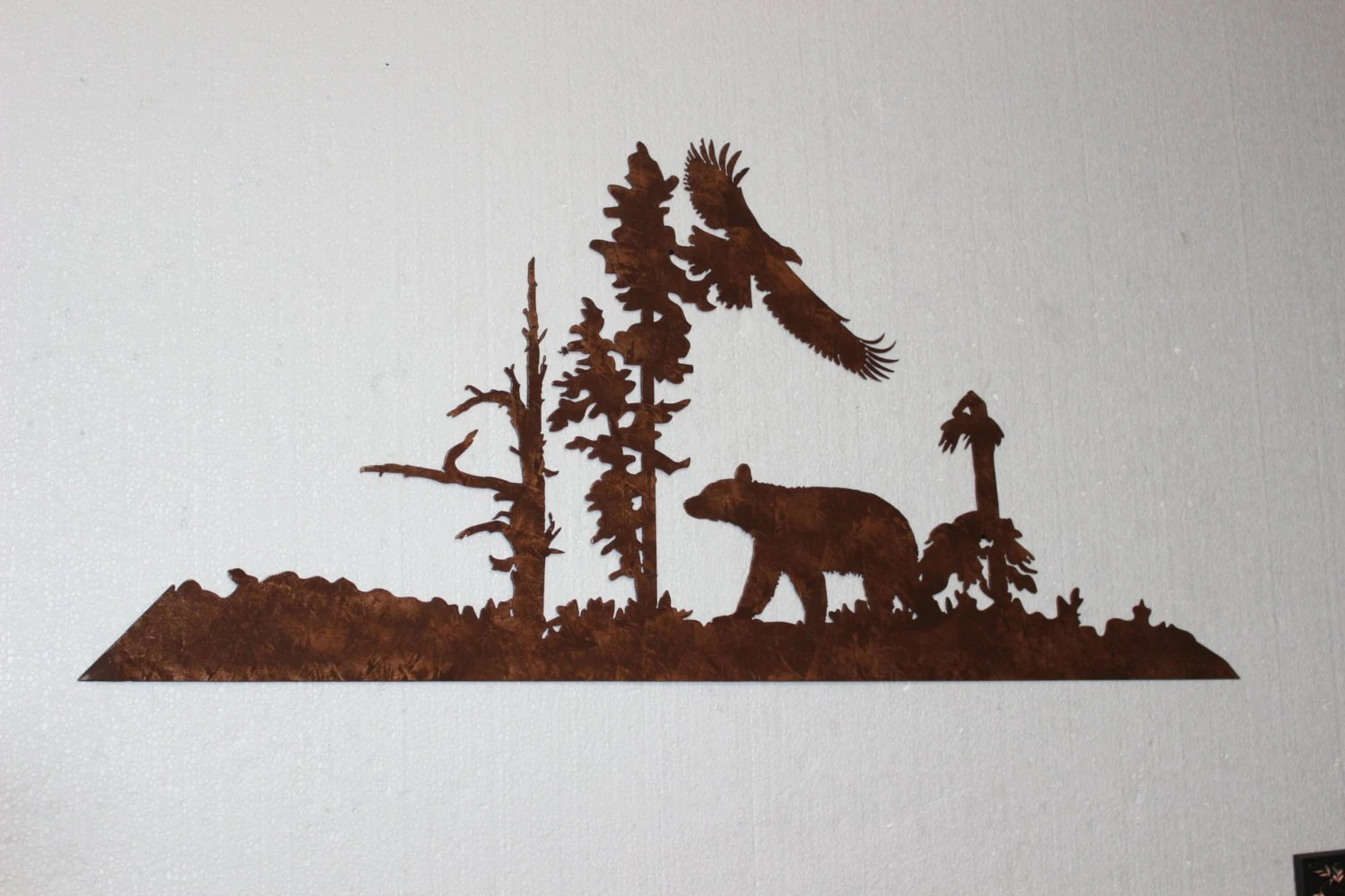 Bear And Eagle Metal Wall Art Country Rustic By