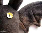 Bat Plushie Bat Plush Bat Toy Bat Softie Halloween Plushie Vampire - Lester the Bat - kindplush
