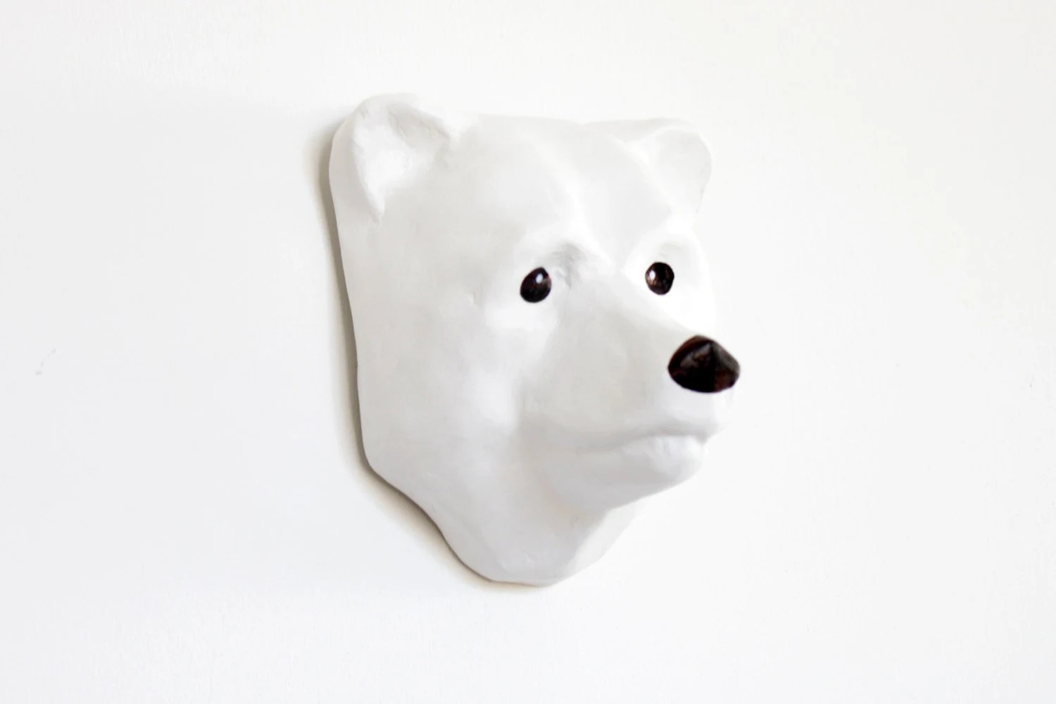Paper Mache Polar Bear Dream Catcher