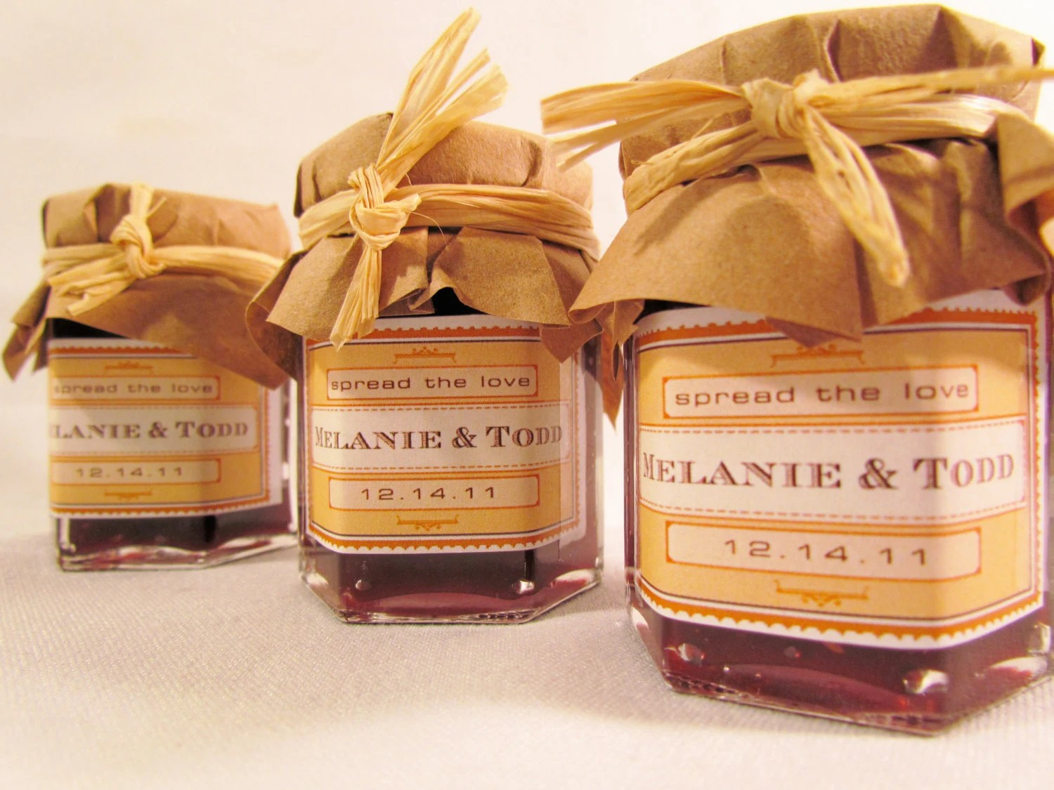 Vintage Romance Wedding Favor - Your choice of Jam, Coffee, Tea, Honey, Spices, Sauces and more - PartyFavorsETSY