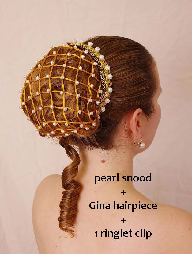 Renaissance Pearl Snood Hair Net Also Suitable For Wedding