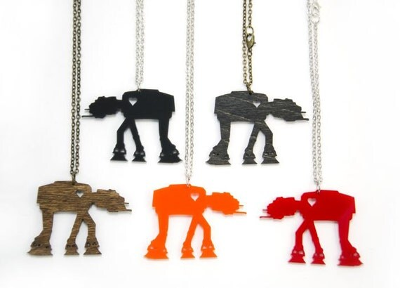AT-AT Necklace - Handmade - Laser Cut