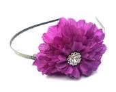 Purple Flower Headband - Bellecardsandgifts