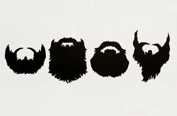 Items Similar To Movember DIY Beard Set Set Of 4 Die Cut